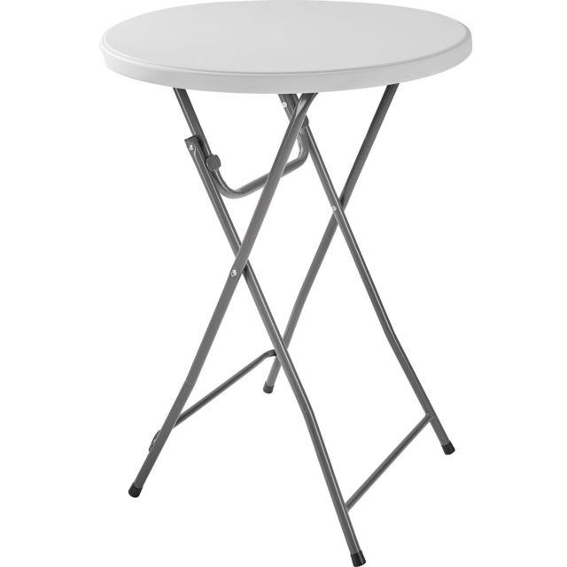 Table Haute, Table de Jardin, Table de Bar, Table Haute Mange Debout, Table  de Bistro Pliante 80 cm x 80 cm x 110 cm Gris