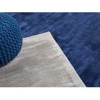 Beliani - Tapis rectangulaire - tapis en viscose - bleu marine - 80x150 cm - Gesi
