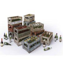 Mini Art - Maquette bouteilles de vin et caisses en bois