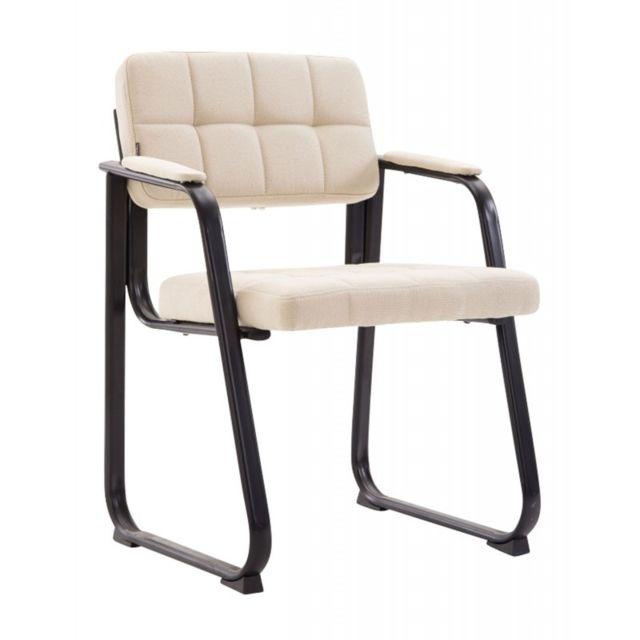 Decoshop26 Chaise visiteur fauteuil de bureau sans