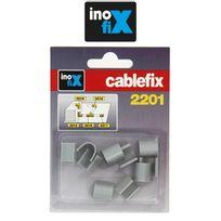 Inofix - Accessoires droits pour Cablefix 2201 gris metallisé