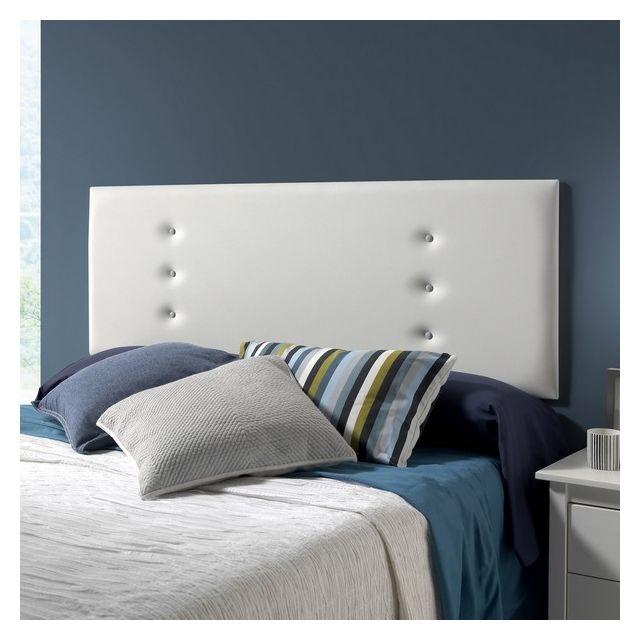 marckonfort t te de lit ibiza 160x55 blanche pas cher achat vente t tes de lit rueducommerce. Black Bedroom Furniture Sets. Home Design Ideas