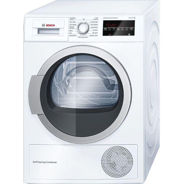 Bosch Sèche-linge à condensation WTW87460FF Programmes spéciaux : Mix, Séchage laine en panier, Serviettes, Minuterie chaud, Sport/Fitness, Duvet, Express, Chemises/Chemisiers, DélicatCycle anti-froissage 120 minSécurité