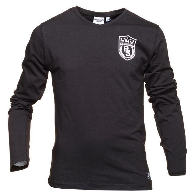 adb3d3f5fe916 Redskins - T Shirt Drake Black - pas cher Achat   Vente Tee shirt enfant -  RueDuCommerce