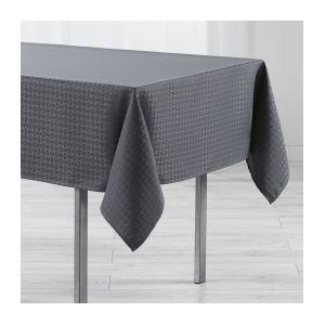 marque generique nappe rectangulaire l300 cm jacquard maillon anthracite gris pas cher. Black Bedroom Furniture Sets. Home Design Ideas