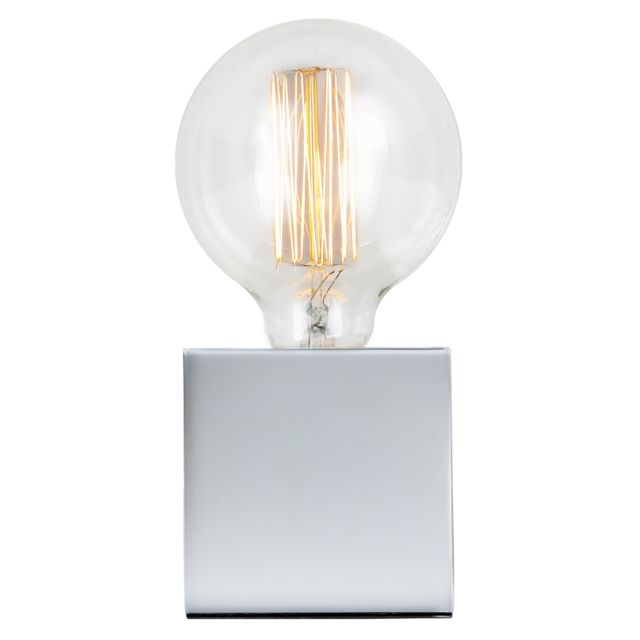 Rendez Vous Deco - Lampe à poser Zelda chrome ampoule incluse 8.5cm x 8.5cm x 8.5cm