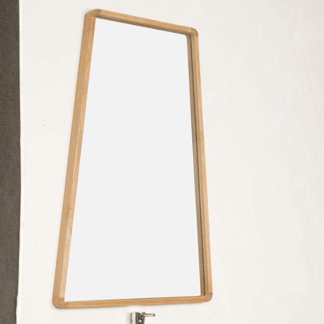 Wanda Collection Miroir salle de bain en teck Tipi 110 X 69 cm