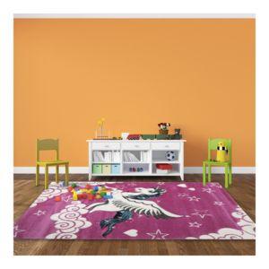 allotapis tapis pour chambre de fille rose licorne pas cher achat vente tapis rueducommerce. Black Bedroom Furniture Sets. Home Design Ideas