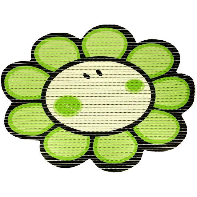 Promobo Tapis De Baignoire Cuisine Antiderapant Design Fleur Vert