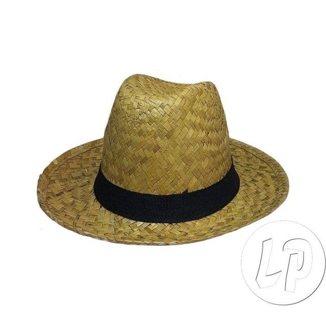 e60853ade3f27 Coolminiprix - Lot de 3 - Chapeau style panama en paille avec ruban noir -  Qualité - pas cher Achat / Vente Articles de fête - RueDuCommerce