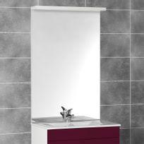 Creazur - Miroir avec bandeau spots Mircoline - 90 cm