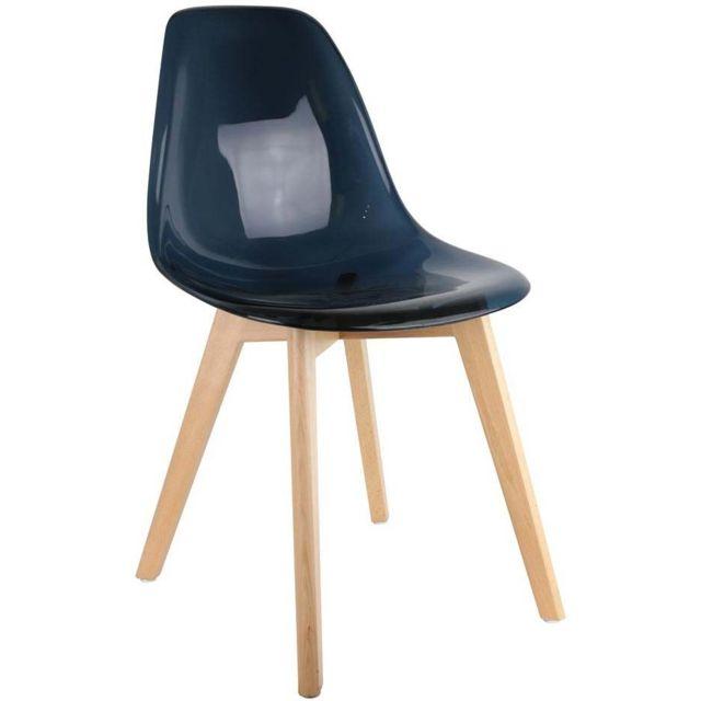Chaise scandinave coque polypropylène Lot de 2