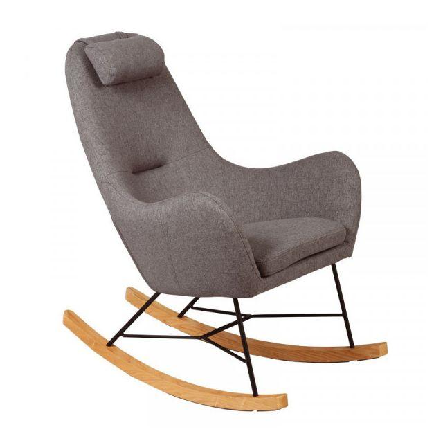 Dansmamaison Rocking Chair Gris -samne - L 70 x l 83 x H 102 cm