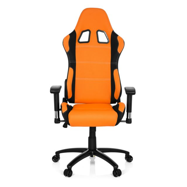 Chaise gaming fauteuil gamer GAME FORCE tissu noir orange