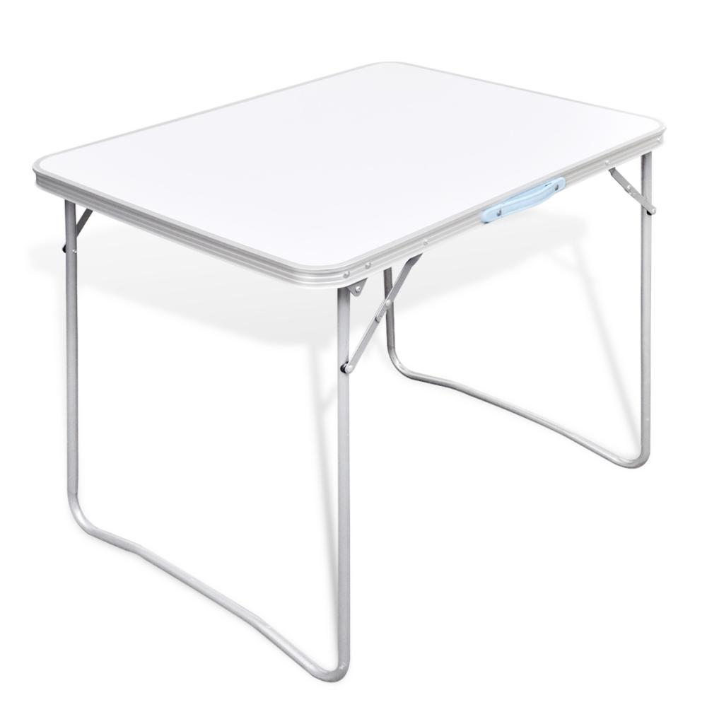 Rocambolesk Superbe Table pliante de camping avec cadre en métal Neuf