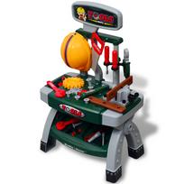Vidaxl - Établi-jouet avec outils pour enfants Vert + Gris
