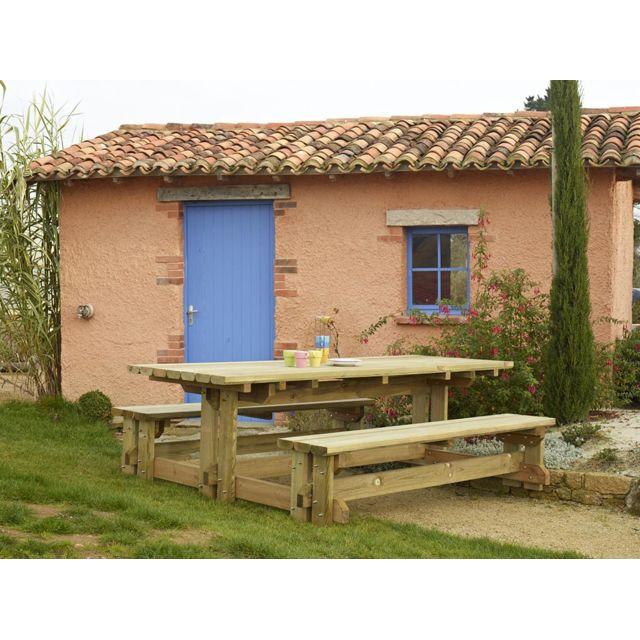 Durapin - Table de Jardin Bois Forestiere - pas cher Achat / Vente ...