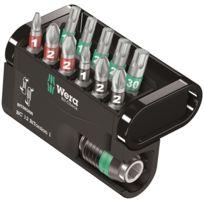 Wera Tools - Jeu de 11 embouts BiTorsion + 1 porte-embouts Rapidator Wera 05057420001
