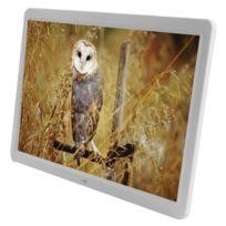 Wewoo - Cadre photo numérique blanc 15,6 pouces Tft Lcd Display Multimédia avec musique et Lecteur de film / fonction de contrôle à distance, prise en charge Usb / carte Sd entrée, haut-parleur stéréo intégré