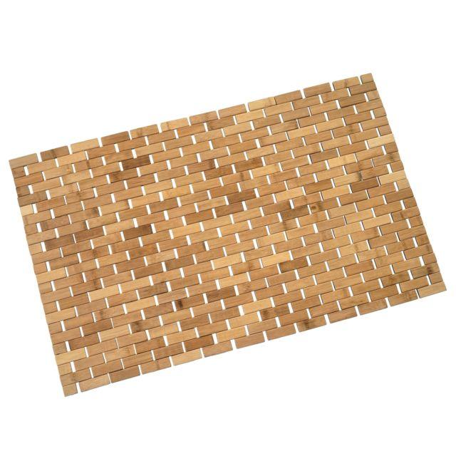 Mendler - Tapis salle de bains Hwc-b18, Bambou, 79x50cm ...