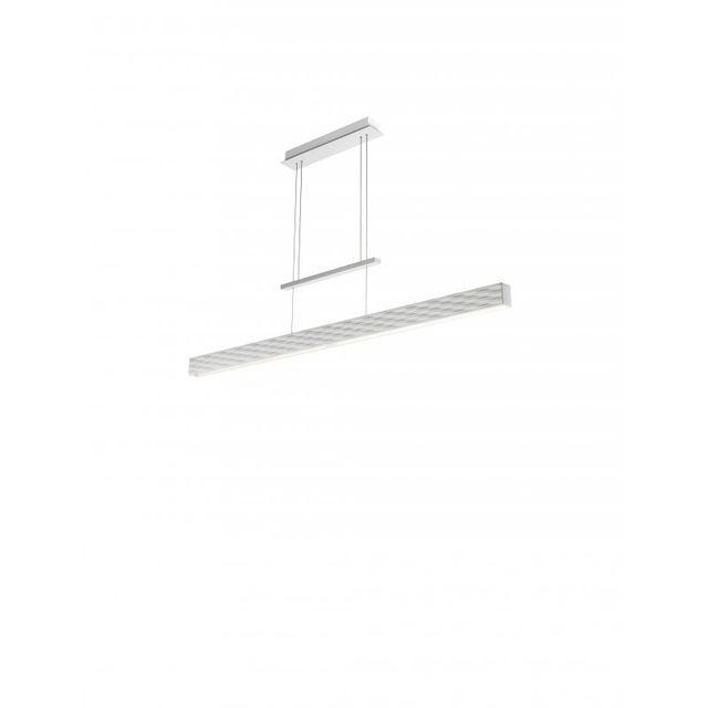 Leds C4 Suspension Stream, Polyuréthane Aluminium et Ppma, blanc mat