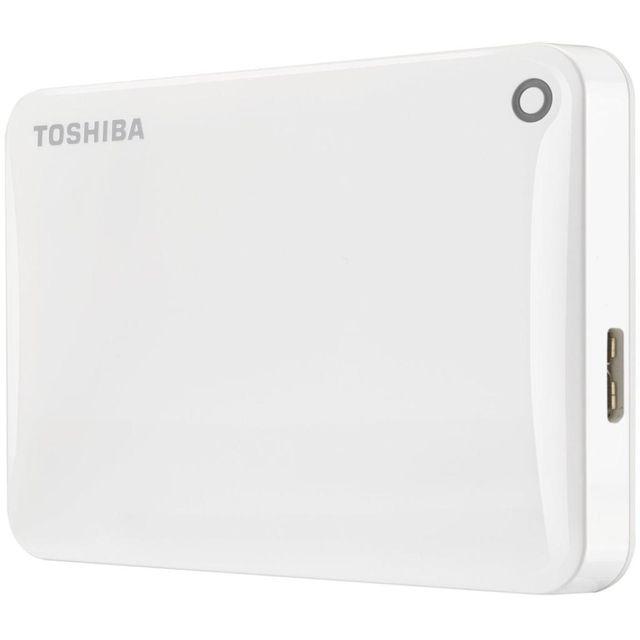 TOSHIBA - Disque dur externe - 500 Go - HDTC805EW3AA - Blanc