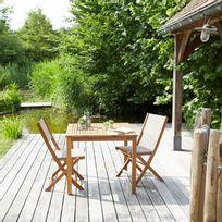 Salon de jardin en bois d'acacia 2 places Fsc