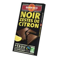 Alter Eco - Chocolat Noir Zestes de Citron Bio 100g