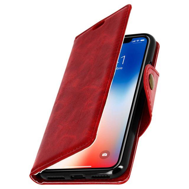 coque iphone x clapet magnetique