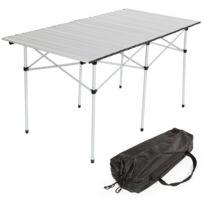 Autre - Table de camping jardin pique-nique aluminium pliante 140x70 cm + sac 2008034