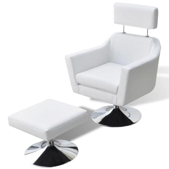 Vidaxl Fauteuil Cuir synthétique Blanc - 241030 | Blanc