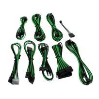 CABLEMOD - Kit de câbles gainés B-Series Straight Power – NOIR / VERT