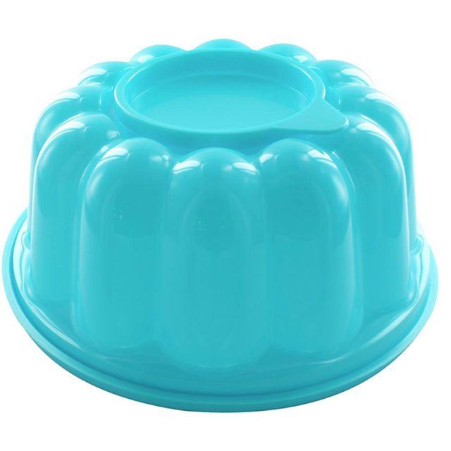 Touslescadeaux Moule à Entremet Charlotte Génoise - Grande Capacité 1,5 litres - Bleu