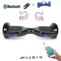 Cool And Fun - Cool&FUN Hoverboard full option Batterie Samsung Enseigne Bleutooth, Scooter électrique Auto-équilibrage,gyropode 6,5 pouces Noir