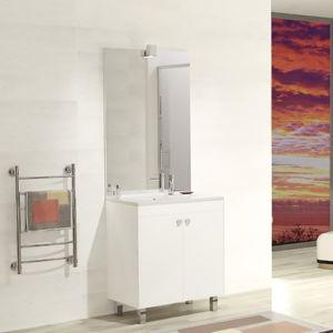 creazur meuble salle de bain coline 70 simple vasque r sine blanc brillant pas cher achat. Black Bedroom Furniture Sets. Home Design Ideas
