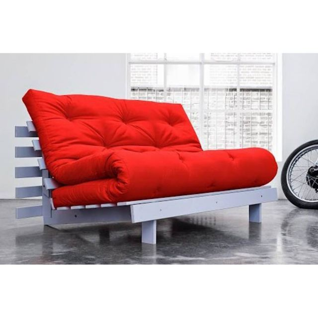 Inside 75 Canape Bz Gris Roots White Futon Rouge Couchage 140