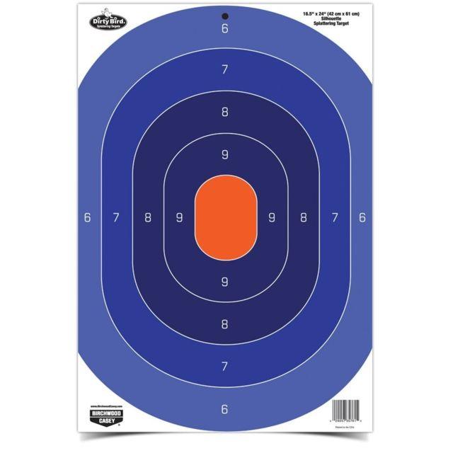 BIRCHWOOD-CASEY - Lot de 3 centres de cible silhouette réactives bleu-orange