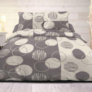 soldes 100pourcentcoton housse de couette 240x260 cm microfibre exo gris 2 taies d 39 oreiller. Black Bedroom Furniture Sets. Home Design Ideas