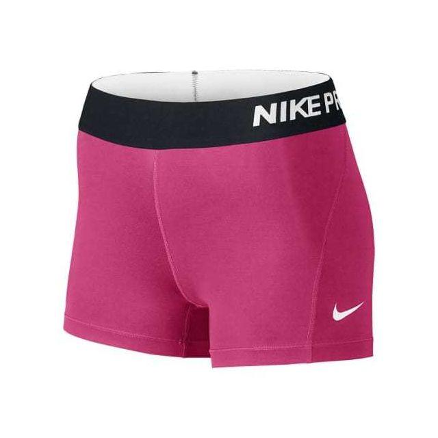 Nike - Pantacourt Pro Cool 3  rose femme - pas cher Achat   Vente Collants  - RueDuCommerce c13df1700d2
