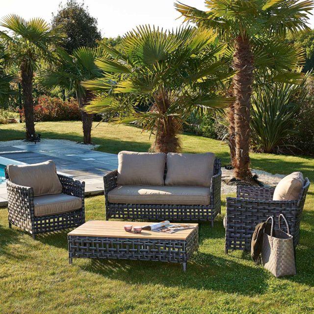 Le Reve Chez Vous - Salon de jardin design Riade 4 places en ...