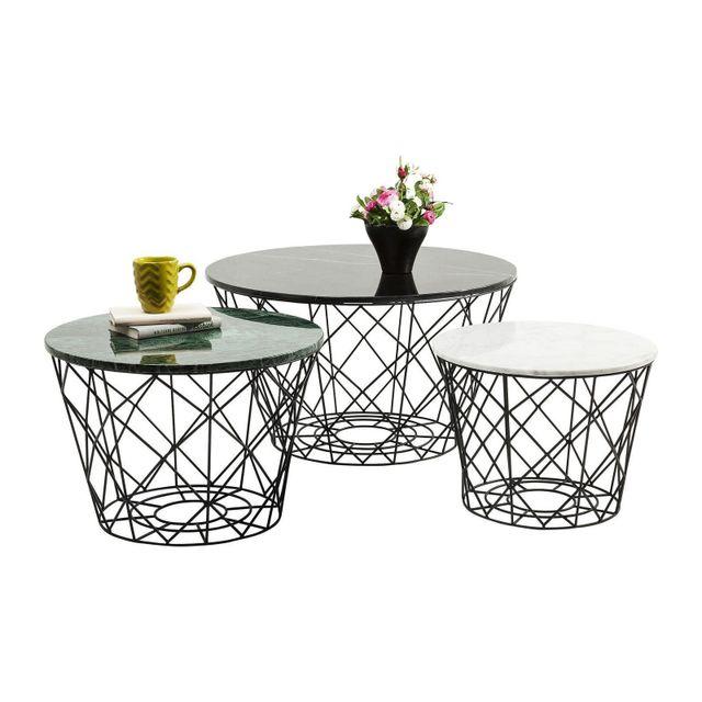 Karedesign Tables basses East rond set de 3 Kare Design