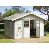 GROSFILLEX - Abri jardin Deco 7.5 - 7.5 m² - 3.15 x 2.39 x 1.88 m - 26 mm