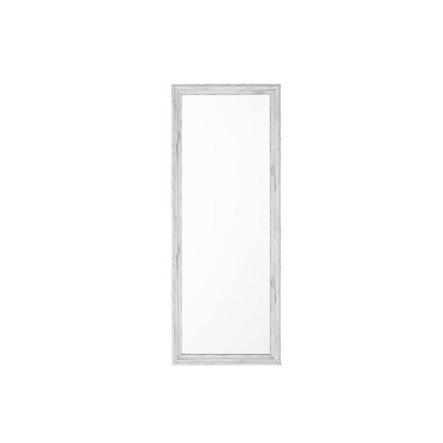 BELIANI Miroir en bois blanc 50 x 130 cm BENON - blanc