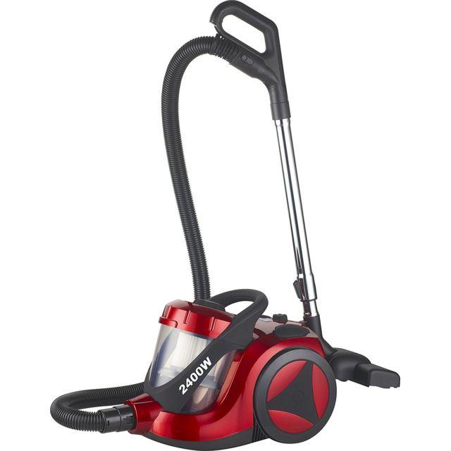 KLAISER Aspirateur Sans Sac Confort Xl Ultra Puissant 2400W - Equipé d'une poignée ergonomique - Couleur rouge-noir