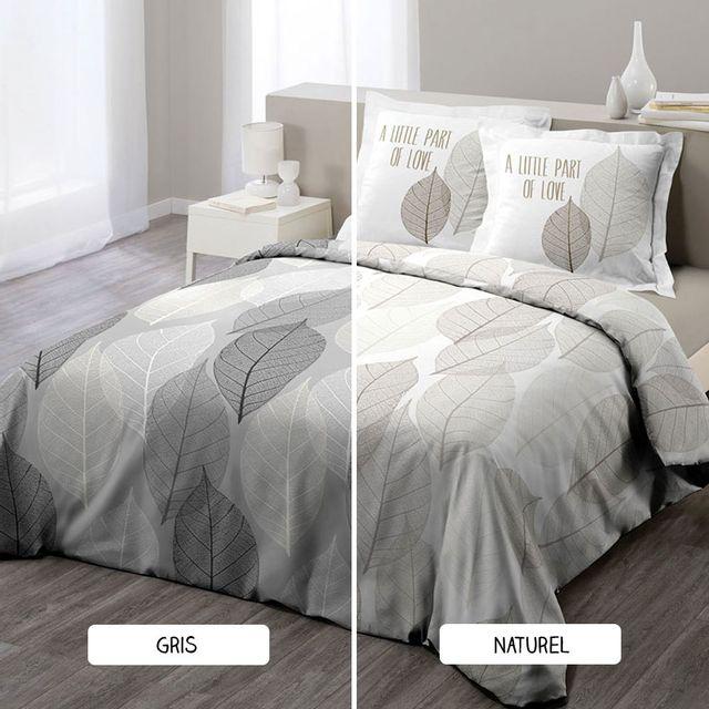 sans marque housse de couette 220 x 240 cm taies solo deux coloris gris pas cher. Black Bedroom Furniture Sets. Home Design Ideas