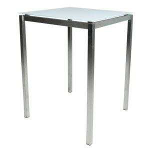 gecko jardin table haute carr e de jardin inox verre 80x80 cm cilaos pas cher achat. Black Bedroom Furniture Sets. Home Design Ideas