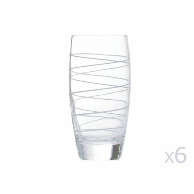 Leonardo Verre forme basse motifs spirale 32cl - lot de 6 Swirl
