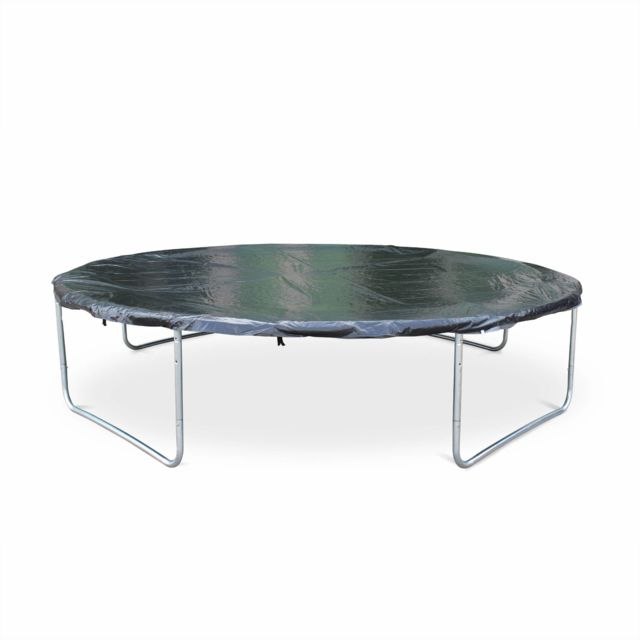 ALICE'S GARDEN - Trampoline rond 370 cm avec filet de protection