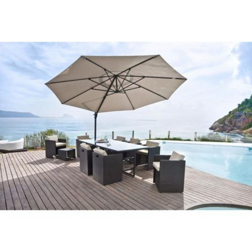 parasol en solde alices garden parasol dport solaire led xm luce ecrucrme haut de gamme. Black Bedroom Furniture Sets. Home Design Ideas