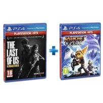 SONY - 2 jeux PS4 HITS : THE LAST OF US REMASTERED + RATCHET & CLANK